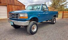 1994 single rear tire Ford F350 XL OBS 4x4 with 460ci V8 and ZF 5 speed manual
