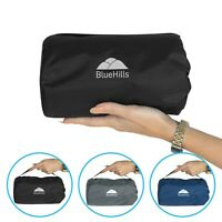 BlueHills Ultra Compact Portable Large Blanket for Airplane Travel Blanket Black
