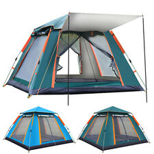 Camping Tent Silver Coated Waterproof Pop Up Tent Advanced Venting 5-6 People