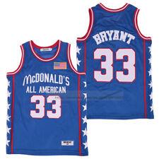 Kobe Bryant #33 All American Basketball Jerseys McDonald's Jersey Sewn 2 Colors