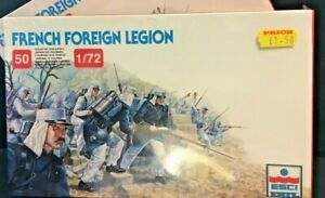 ESCI FRENCH FOREIGN LEGION 50 SOLDIERS MODEL - BOXED,SEALED