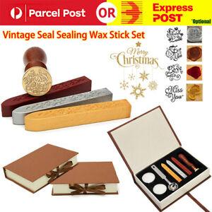 Custom Stamps Wax Seal Box Kit Detachable Stamp Spoon Set Sealing Beads Wedding