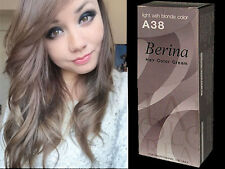 BERINA PERMANENT A38 COLOR NEW HAIR DYE CREAM LIGHT ASH BLONDE COLOR FREE SHIP