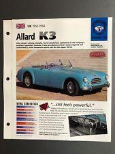 "1952 - 1954 Allard K3 Convertible IMP ""Hot Cars"" Spec Sheet, Folder, Brochure"