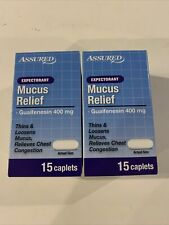 Guaifenesin 400mg 30 Caplets Chest Congestion Compare to Mucinex Expectorant