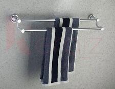 61cm Doppio Portasciugamani Da Parete Alluminio Telo Stand Bagno accessorio