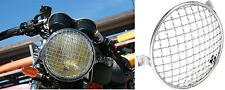 Griglia Faro Cromata Moto Headlight Stoneguard Scrambler Cafe Racer BMW Guzzi SW