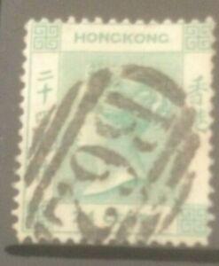 HONG KONG 1863-1871 CROWN CC SG14 USED CAT £12
