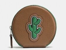 COACH COIN CASE IN PEBBLE LEATHER WITH CACTUS