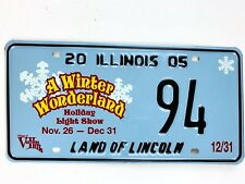Christmas License Plate Winter Wonderland Snowflake Special Event 2005 Illinois
