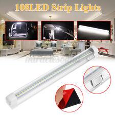 12V 108 LED Interior Light Bar Strip w/ ON/OFF Switch Caravan RV Truck Camper US