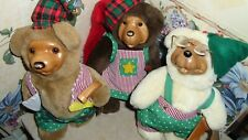 Robert Raikes bear 1994 retired numbered Christmas holiday lot bear by Applause