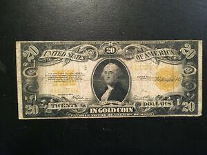 USA  20 Dollars 1922  -- Gold Certificate
