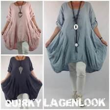 Plus Size Linen Casual Knee Length Dresses for Women