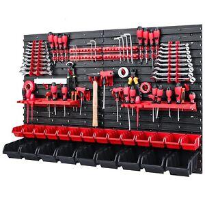 Werkzeugwand 1152 x 780 mm -  Lagersystem SET Werkzeughaltern und 42 Stück Boxen