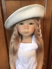 Ivory Wool Custom Doll Hat Fits Himstedt Lunna & Zwergnase