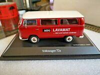 """Schuco 1:43  VW T2a Bus""""AEG Lavamat"""" rot-weiss, NEU-wertig in OVP"""