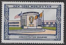 Usa Poster stamp:1939 New York World's Fair: Administration Building - dw433/41