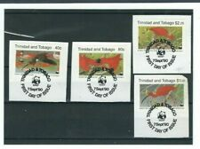 WWF Trinidad and Tobago, 1990, Satz mit Ersttagstempel auf Briefausschnitt