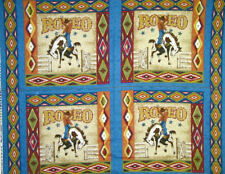 RODEO PILLOW PANEL BLUE