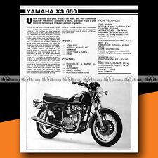 ★ YAMAHA XS 650 ★ 1979 Essai Moto / Original Road Test #a290