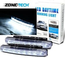 White Car 12V DC Head Lamp Daytime Running Light 8 LED DRL Daylight Kit