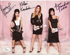 KARDASHIAN SISTERS HAND SIGNED 8x10 COLOR PHOTO     SIGNED BY ALL THREE      JSA