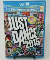 JUST DANCE 2015 GAME FOR NINTENDO Wii U, GAME DISC, CASE, MANUAL, UBISOFT
