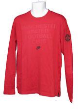 Nuevo Nike NSW Club de Fútbol Manchester United Algodón Largo Manga Camiseta L