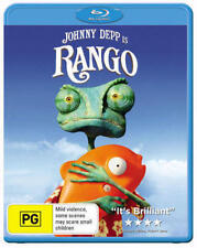 Johnny Depp is RANGO  Region B BluRay As NewFree Postage