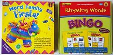 Learning Well Games WORD FAMILY FIESTA and Edupress RHYMING WORDS BINGO EP3509