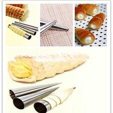 3pcs Danish Stainless Steel DIY Spiral Horn Mold Cake Baking Tube Croissants