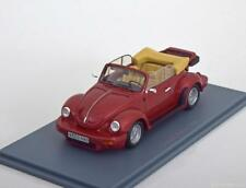 VW VOLKSWAGEN SCHULT KAFER RED METAL NEO 46140 1/43 COCCINELLE CABRIOLET ROT