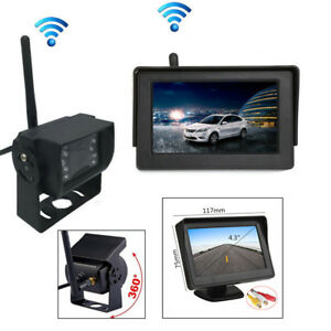 """Wireless 4.3"""" LCD Dash Monitor + LED Backup Camera RearView Car Parking Cam Kit"""