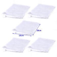 5 PCS Nylon Aquarium Fish Tank Pond Filter Media Zip Mesh Net Bag Zipper White