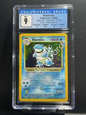 "1999 Pokemon Base Unlimited BLASTOISE - Holo 2/102 - CGC 9 Mint ""Red Dot Error"""