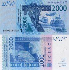 WEST AFRICAN STATES, TOGO, 2000 Francs, 2018, Code T, P816T, UNC