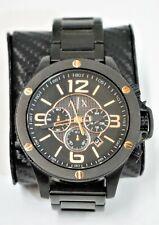 Armani Exchange Street Black IP Chronograph Mens Watch AX1513 48mm - Nice!
