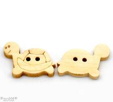 8 pulsanti TARTARUGA TURTLE legno Bottoni in CUCITO FAI DA TE #
