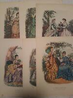1939 (6 prints) LA MODE ILLUSTREE BUREAUX DU JOURNAL 56 RUE JACOB PARIS