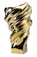 Rosenthal Squall Gold titanisiert Vase 32 cm