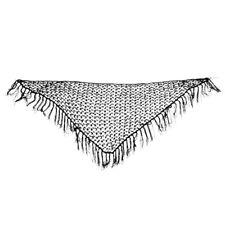 Belly Dance Dancing Triangular Shawl Wrap Scarf Dancewear Costumes 8 Colors L3 Black