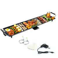 Electric Teppanyaki Table Top Grill Griddle BBQ Barbecue Nonstick Plate Camping
