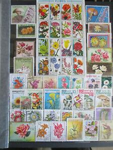 """Lot de timbres """"PLANTES ET FLEURS"""" oblitérés + cadeau pour 2 lots de mes ventes"""