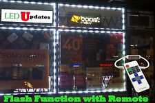 20ft FLASHING STOREFRONT WINDOW White 5050 LED LIGHT Module w/ remote & UL Power