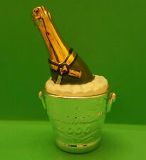 Clay Art 2000 Millennium Champagne in Ice Bucket Salt and Pepper Shakers