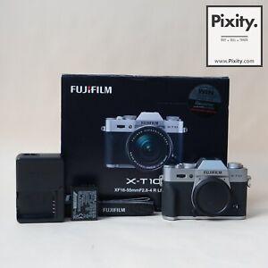 FUJIFILM X-T10 16.3 Megapixel Mirrorless Digital Camera (Silver, Body) #00301