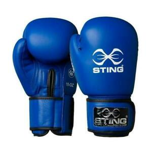 Sting Boxing Gloves AIBA Approved Blue 10oz 12oz