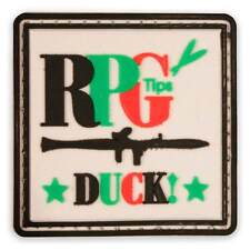3D PVC RPG Tips Military Army Tactical Airsoft Biker Morale Patch Badge