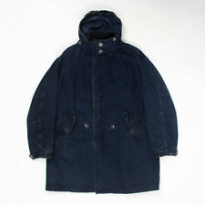 Vintage Armani Jeans oversize fleece lined parka M BLUE made in Italy
